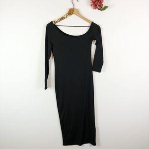 Fashion Dresses - [FASHION]Asymmetric Long Sleeve Maxi Dress